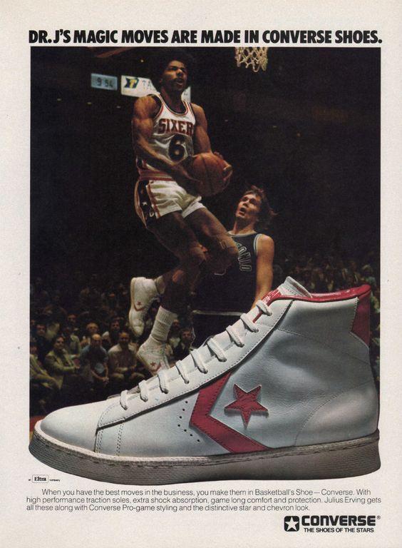 "1980'lerden Converse Pro Leather ""Dr. J"" Reklamı"